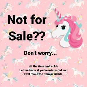 "Item You Like is Listed ""Not for Sale""???"